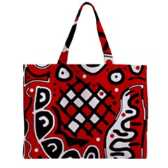 Red high art abstraction Zipper Mini Tote Bag