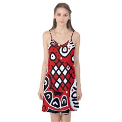 Red high art abstraction Camis Nightgown