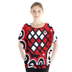Red high art abstraction Blouse