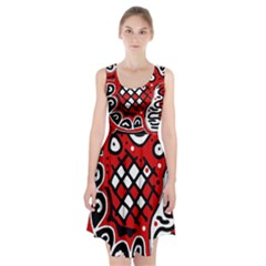Red high art abstraction Racerback Midi Dress