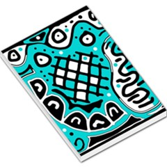 Cyan high art abstraction Large Memo Pads