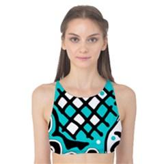 Cyan high art abstraction Tank Bikini Top
