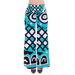 Cyan high art abstraction Pants