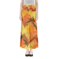 Fall Colors Leaves Pattern Women s Maxi Skirt