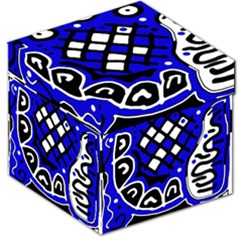 Blue high art abstraction Storage Stool 12