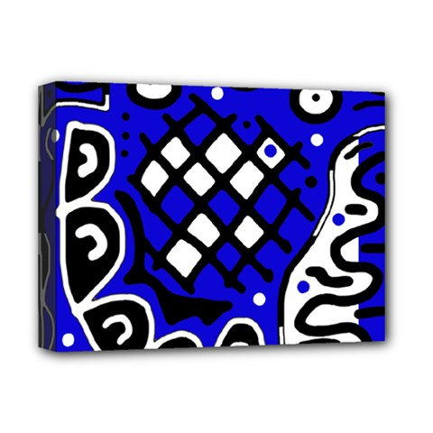 Blue high art abstraction Deluxe Canvas 16  x 12