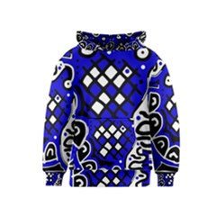 Blue high art abstraction Kids  Pullover Hoodie
