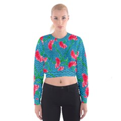 Carnations Women s Cropped Sweatshirt