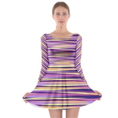 Abstract1 Copy Long Sleeve Skater Dress