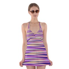 Abstract1 Halter Swimsuit Dress