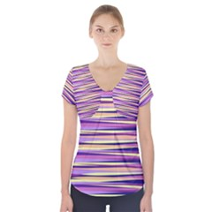 Abstract1 Short Sleeve Front Detail Top