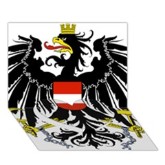 Coat of Arms of Austria Heart Bottom 3D Greeting Card (7x5)