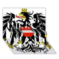 Coat of Arms of Austria Miss You 3D Greeting Card (7x5)