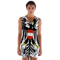 Coat Of Arms Of Austria Wrap Front Bodycon Dress