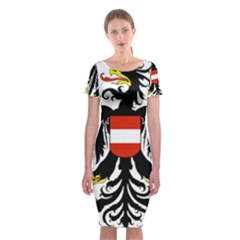 Coat Of Arms Of Austria Classic Short Sleeve Midi Dress
