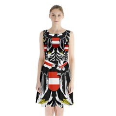 Coat of Arms of Austria Sleeveless Waist Tie Dress