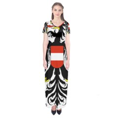 Coat Of Arms Of Austria Short Sleeve Maxi Dress