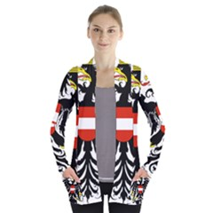 Coat Of Arms Of Austria Women s Open Front Pockets Cardigan(p194)