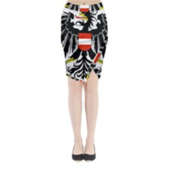 Coat Of Arms Of Austria Midi Wrap Pencil Skirt