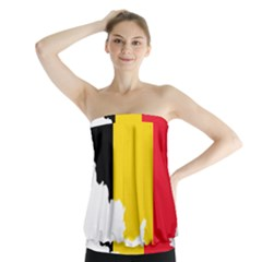 Belgium Flag Map Strapless Top