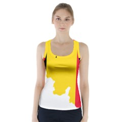 Belgium Flag Map Racer Back Sports Top