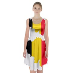 Belgium Flag Map Racerback Midi Dress
