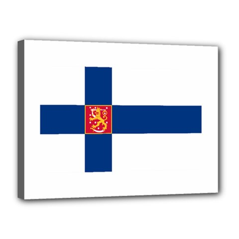 State Flag of Finland  Canvas 16  x 12