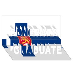 State Flag Of Finland  Congrats Graduate 3d Greeting Card (8x4)