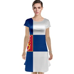 State Flag of Finland  Cap Sleeve Nightdress
