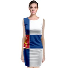 State Flag Of Finland  Classic Sleeveless Midi Dress