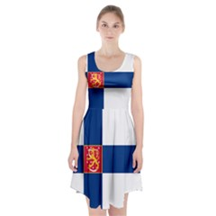 State Flag of Finland  Racerback Midi Dress