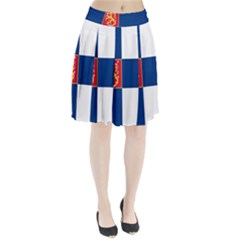 State Flag Of Finland  Pleated Skirt
