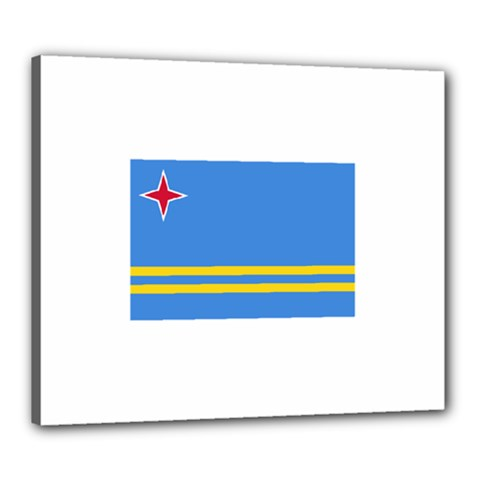 Flag of Aruba Canvas 24  x 20