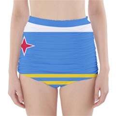 Flag of Aruba High-Waisted Bikini Bottoms