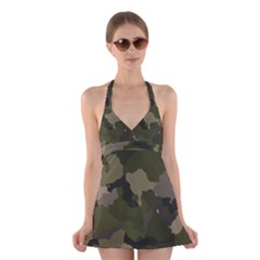 Huntress Camouflage Halter Swimsuit Dress