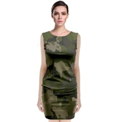 Huntress Camouflage Classic Sleeveless Midi Dress