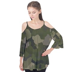 Huntress Camouflage Flutter Tees