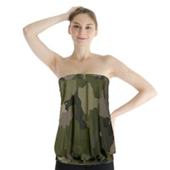 Huntress Camouflage Strapless Top