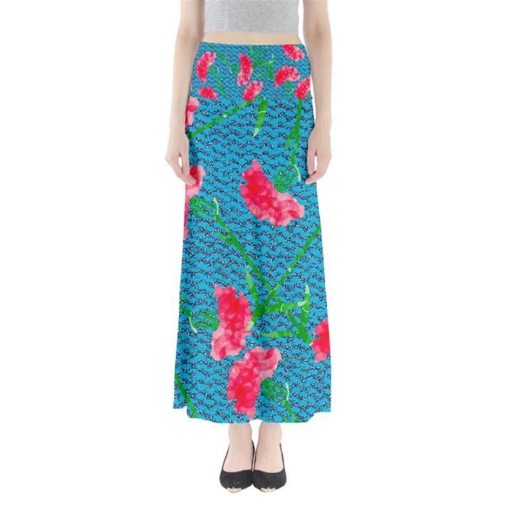Carnations Women s Maxi Skirt