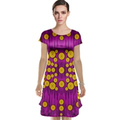 Orange Tree As Pop Art Cap Sleeve Nightdress