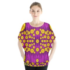 Orange Tree As Pop Art Blouse