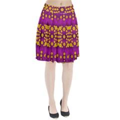 Orange Tree As Pop Art Pleated Skirt