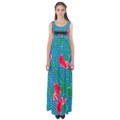 Carnations Empire Waist Maxi Dress