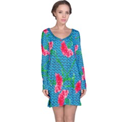 Carnations Long Sleeve Nightdress