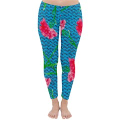 Carnations Winter Leggings