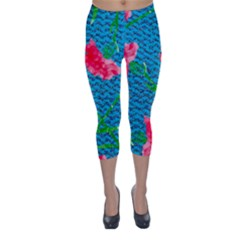 Carnations Capri Winter Leggings