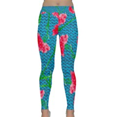 Carnations Yoga Leggings