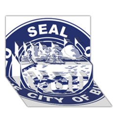 Seal of Buffalo Miss You 3D Greeting Card (7x5)