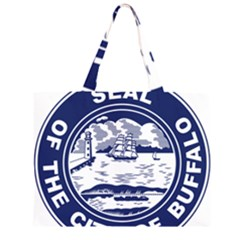 Seal of Buffalo Large Tote Bag