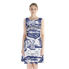 Seal of Buffalo Sleeveless Waist Tie Dress